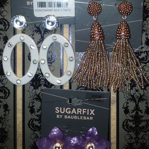 3pc SUGARFIX By BAUBLEBAR FLOWER/TASSEL EARRINGS